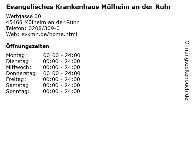 ᐅ öffnungszeiten Evangelisches Krankenhaus Mülheim An Der Ruhr