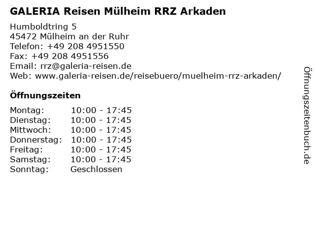 TUI ReiseCenter in Mülheim an der Ruhr: Adresse und Öffnungszeiten
