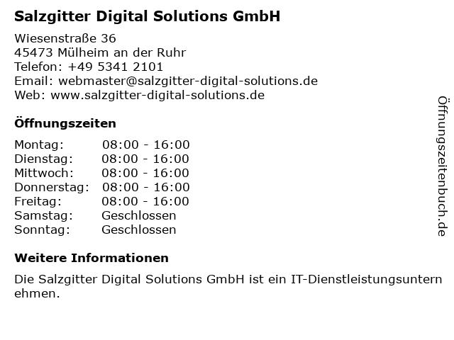 GESIS Gesellschaft für Informationssysteme mbH in Mülheim an der Ruhr: Adresse und Öffnungszeiten
