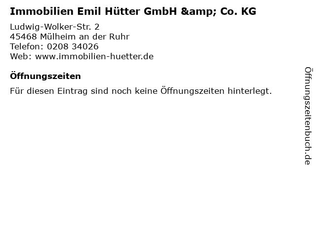 Immobilien Emil Hütter GmbH & Co. KG in Mülheim an der Ruhr: Adresse und Öffnungszeiten