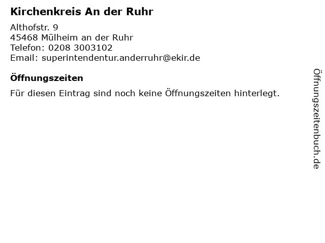 Kirchenkreis An der Ruhr in Mülheim an der Ruhr: Adresse und Öffnungszeiten