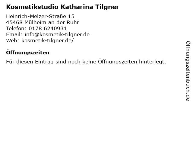Kosmetikstudio Katharina Tilgner in Mülheim an der Ruhr: Adresse und Öffnungszeiten