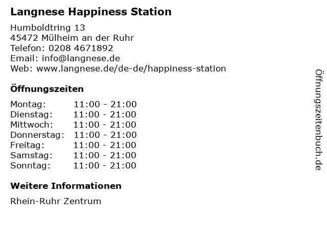 Langnese Happiness Station in Mülheim an der Ruhr: Adresse und Öffnungszeiten