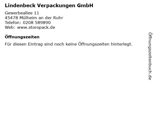 Lindenbeck Verpackungen GmbH in Mülheim an der Ruhr: Adresse und Öffnungszeiten