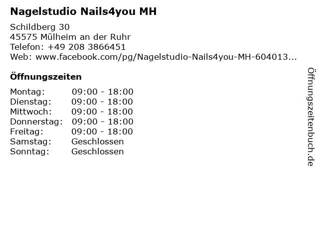 Nagelstudio Nails4you MH in Mülheim an der Ruhr: Adresse und Öffnungszeiten