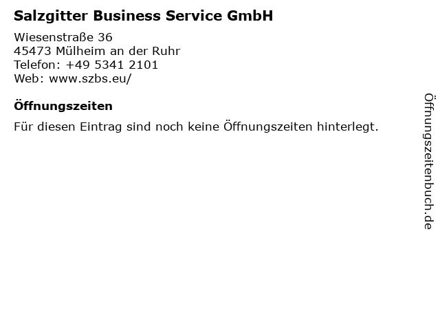 Salzgitter Business Service GmbH in Mülheim an der Ruhr: Adresse und Öffnungszeiten