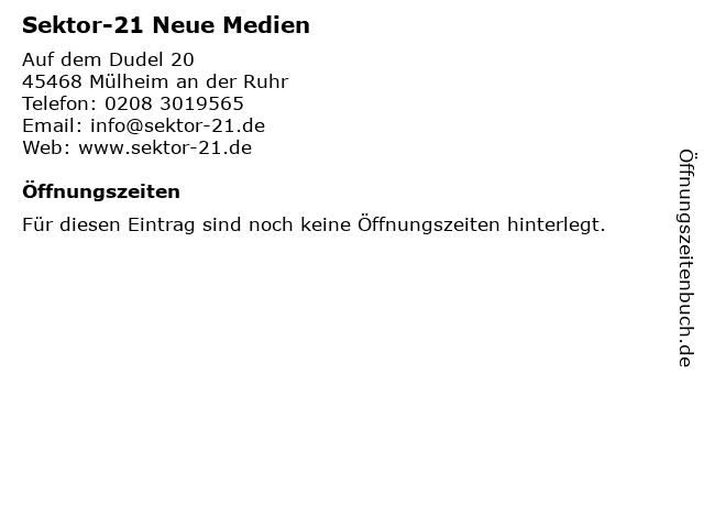 Sektor-21 Neue Medien in Mülheim an der Ruhr: Adresse und Öffnungszeiten