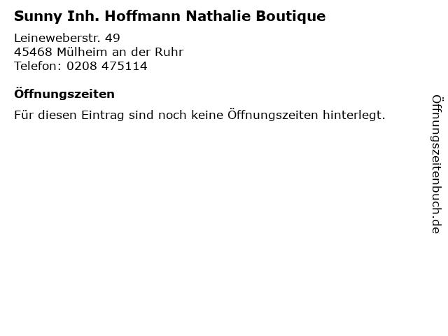 Sunny Inh. Hoffmann Nathalie Boutique in Mülheim an der Ruhr: Adresse und Öffnungszeiten