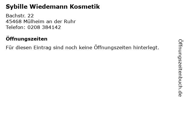 Sybille Wiedemann Kosmetik in Mülheim an der Ruhr: Adresse und Öffnungszeiten
