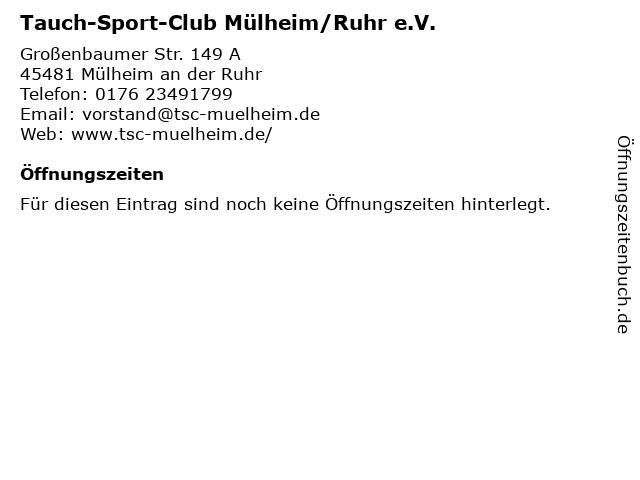 Tauch-Sport-Club Mülheim/Ruhr e.V. in Mülheim an der Ruhr: Adresse und Öffnungszeiten