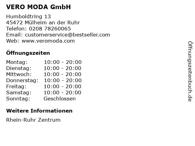 VERO MODA GmbH in Mülheim an der Ruhr: Adresse und Öffnungszeiten