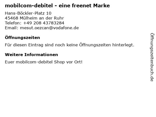 mobilcom-debitel in Mülheim an der Ruhr: Adresse und Öffnungszeiten