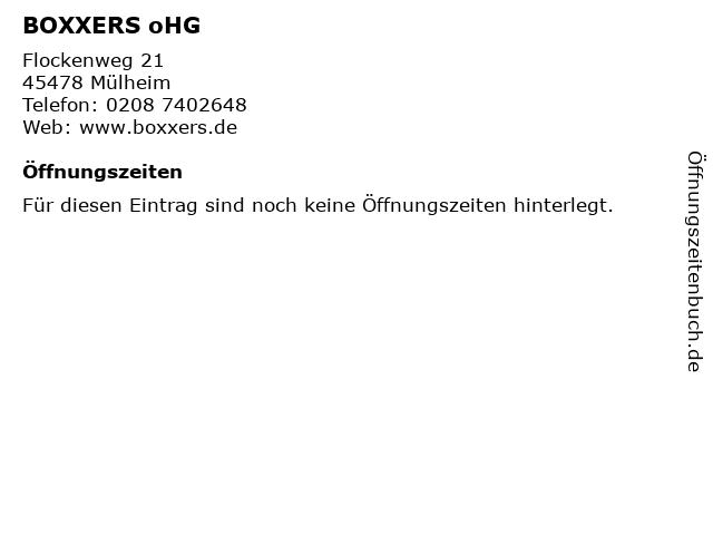 BOXXERS oHG in Mülheim: Adresse und Öffnungszeiten