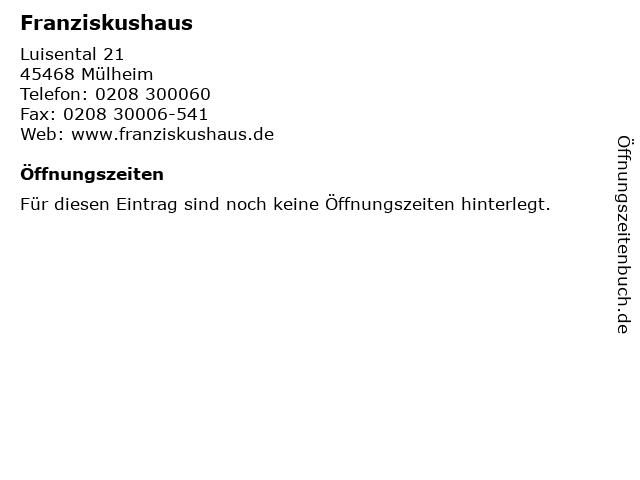 Franziskushaus in Mülheim: Adresse und Öffnungszeiten