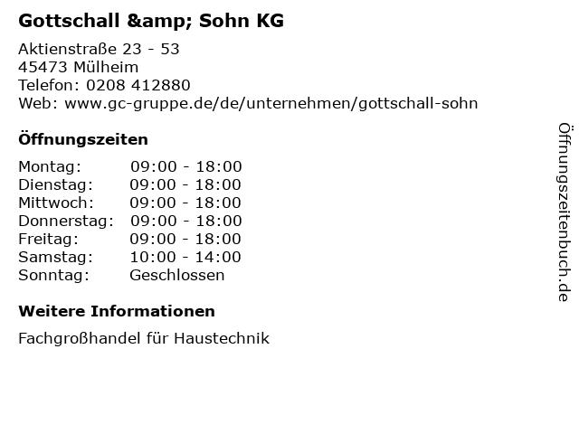 Gottschall & Sohn KG in Mülheim: Adresse und Öffnungszeiten