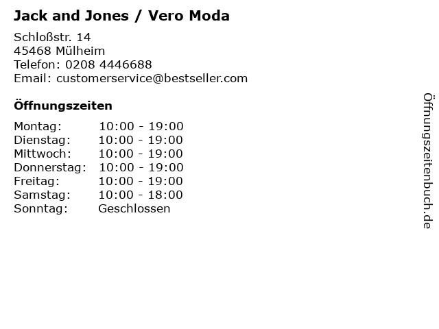 Jack and Jones / Vero Moda in Mülheim: Adresse und Öffnungszeiten