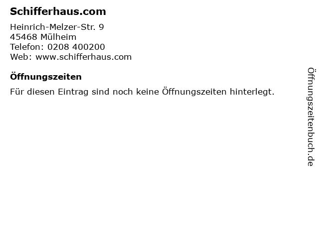 Schifferhaus.com in Mülheim: Adresse und Öffnungszeiten