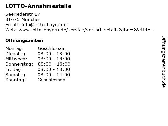 LOTTO-Annahmestelle in Münche: Adresse und Öffnungszeiten