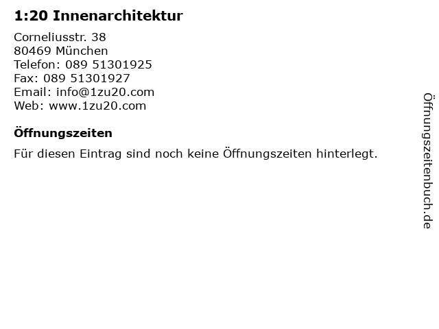 1:20 Innenarchitektur in München: Adresse und Öffnungszeiten