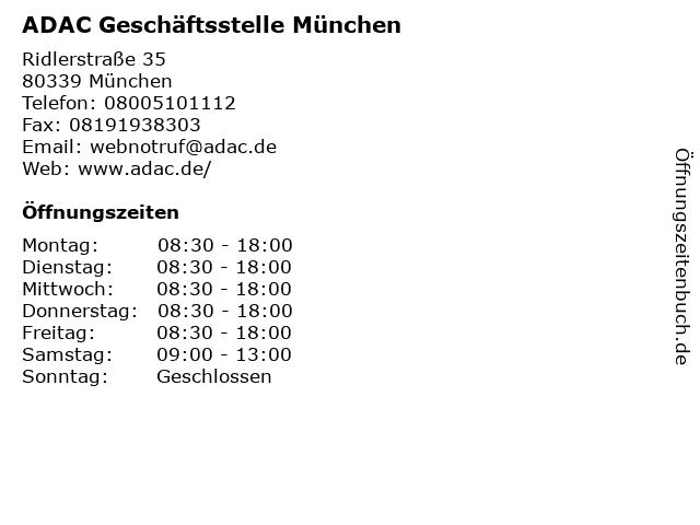 ADAC Geschäftsstelle München in München: Adresse und Öffnungszeiten