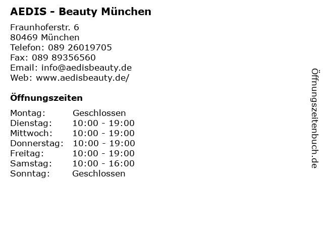 AEDIS - Beauty München in München: Adresse und Öffnungszeiten