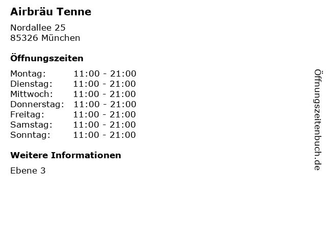 Airbräu Tenne in München: Adresse und Öffnungszeiten