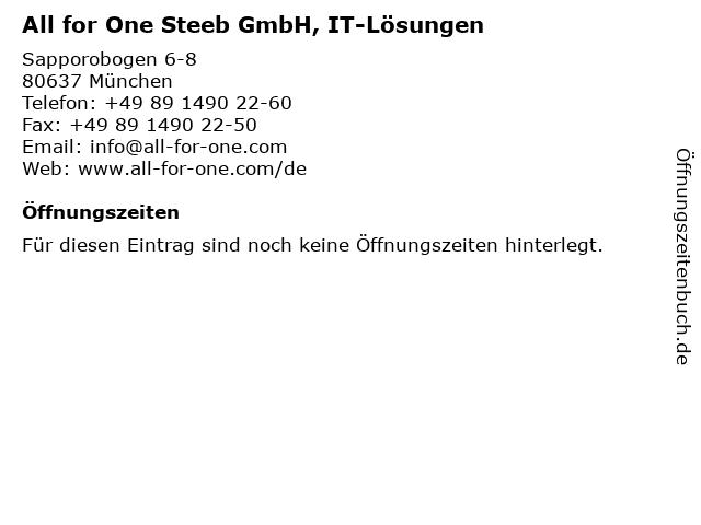 All for One Steeb GmbH, IT-Lösungen in München: Adresse und Öffnungszeiten