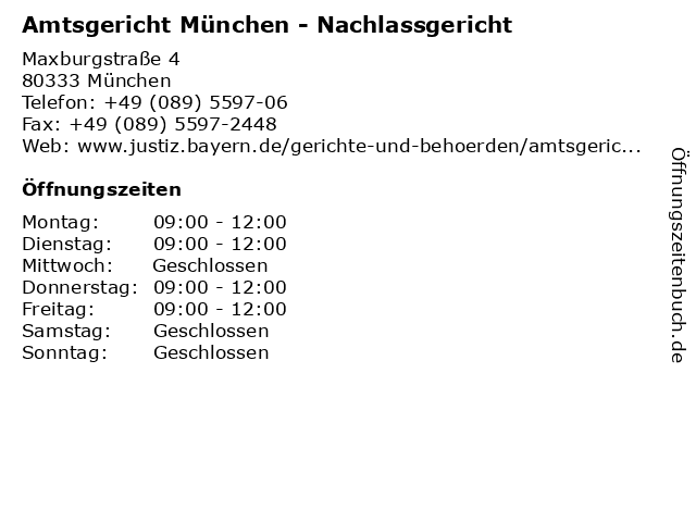 Amtsgericht Nürnberg Nachlassgericht