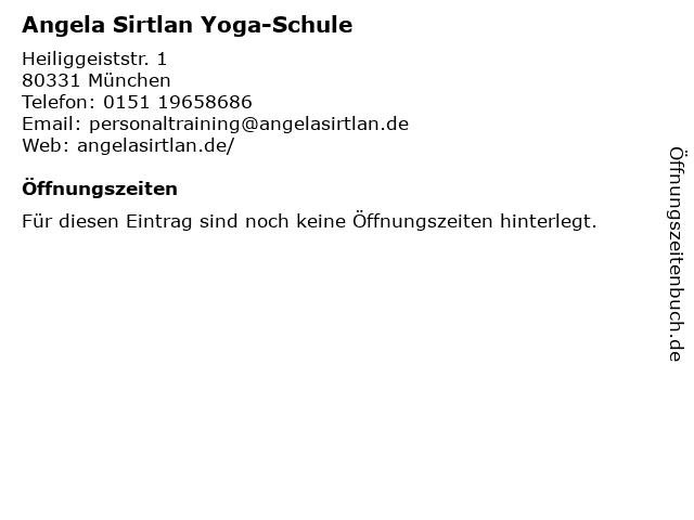 Angela Sirtlan Yoga-Schule in München: Adresse und Öffnungszeiten