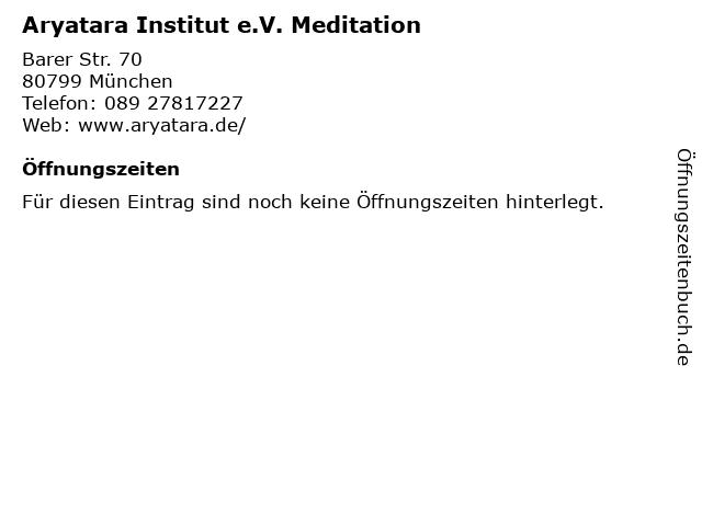 Aryatara Institut e.V. Meditation in München: Adresse und Öffnungszeiten