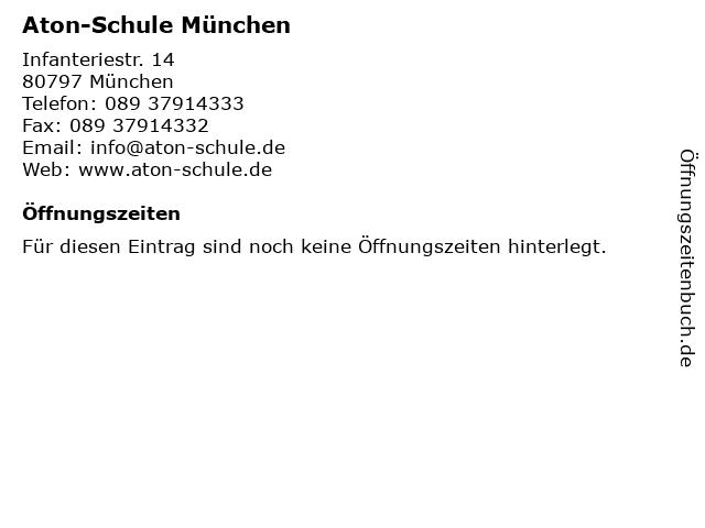 Aton-Schule München in München: Adresse und Öffnungszeiten