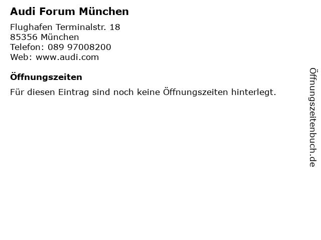 Audi Forum München in München: Adresse und Öffnungszeiten