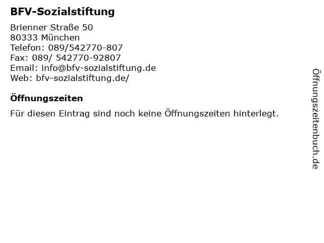 BFV-Sozialstiftung in München: Adresse und Öffnungszeiten