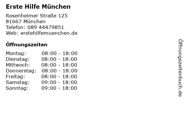 BLR Akademie- Erste Hilfe Kurse in München in München: Adresse und Öffnungszeiten