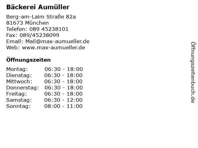 Bäckerei Aumüller in München: Adresse und Öffnungszeiten
