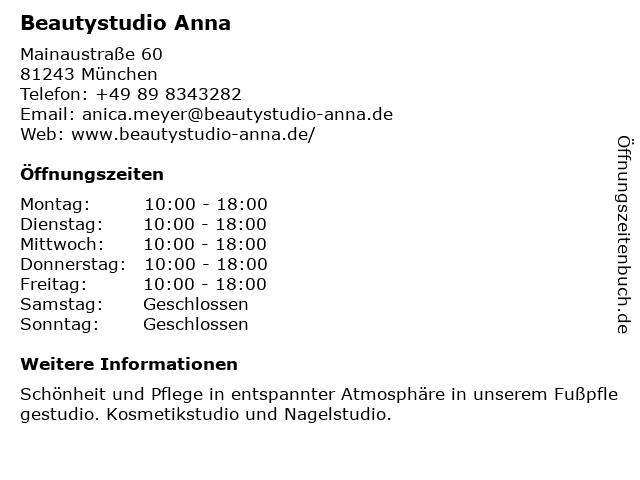 Parfümerie Ana in München: Adresse und Öffnungszeiten