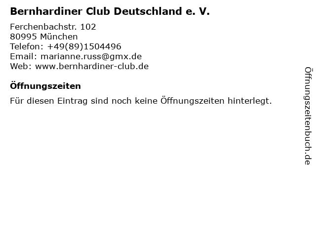 Bernhardiner Club Deutschland e. V. in München: Adresse und Öffnungszeiten