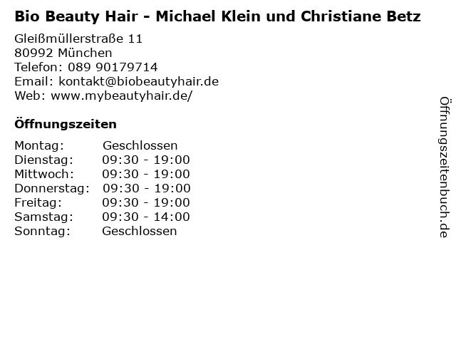 Bio Beauty Hair - Michael Klein und Christiane Betz in München: Adresse und Öffnungszeiten