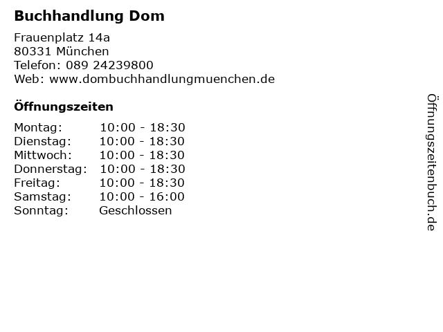 Buchhandlung Dom in München: Adresse und Öffnungszeiten