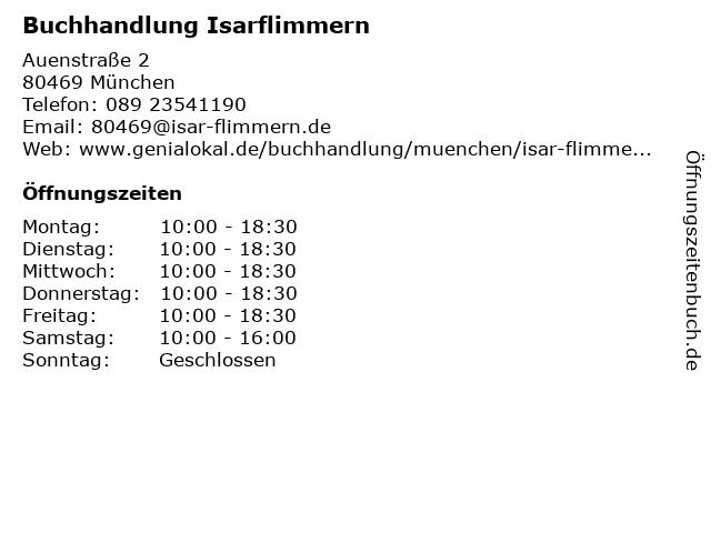 Buchhandlung Sinn & Sinnlichkeit in München: Adresse und Öffnungszeiten