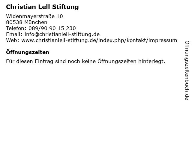 Christian Lell Stiftung in München: Adresse und Öffnungszeiten
