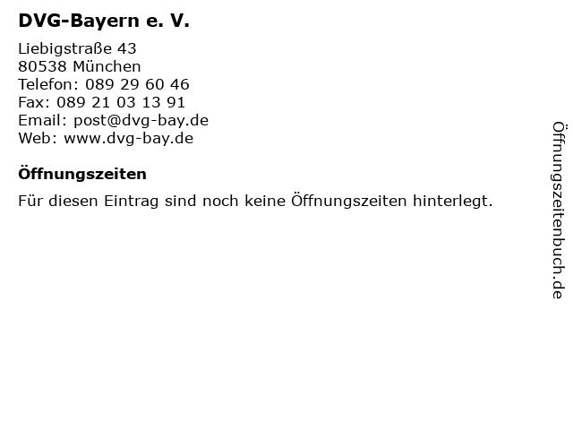 DVG-Bayern e. V. in München: Adresse und Öffnungszeiten