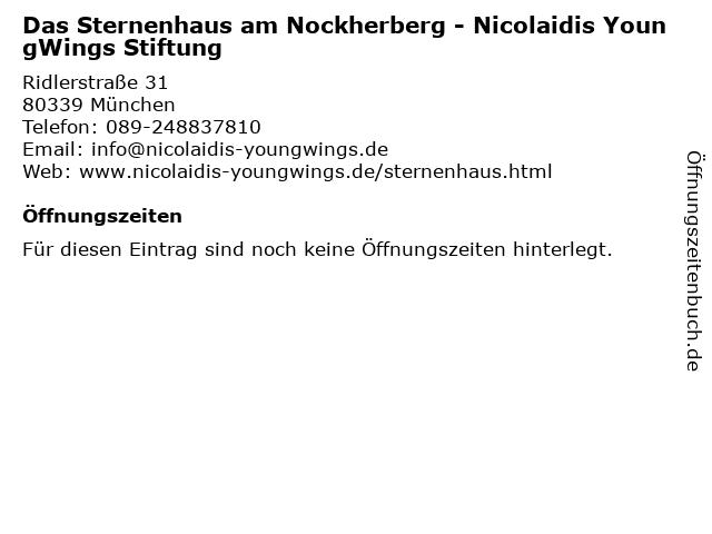 Das Sternenhaus am Nockherberg - Nicolaidis YoungWings Stiftung in München: Adresse und Öffnungszeiten