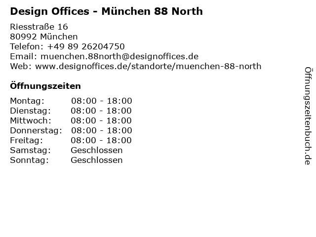 Design Offices - München 88 North in München: Adresse und Öffnungszeiten