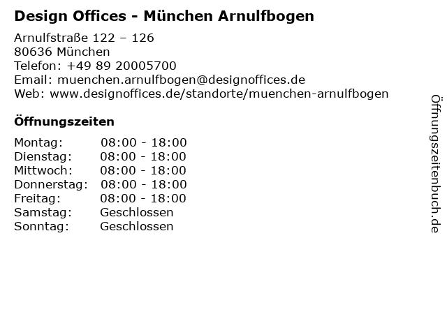 Design Offices - München Arnulfbogen in München: Adresse und Öffnungszeiten