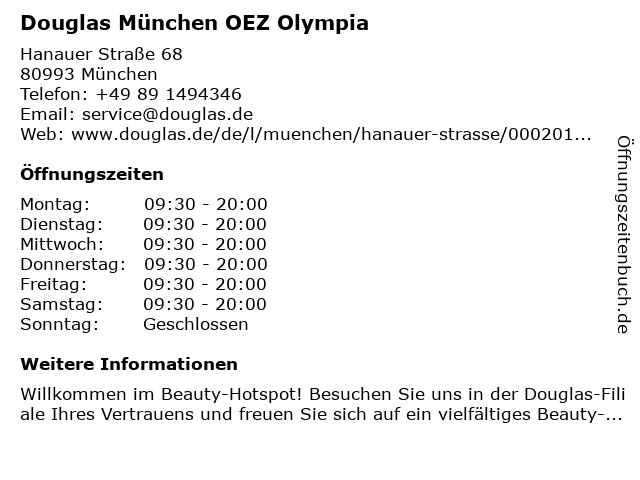 Parfümerie Douglas München Moosach in München: Adresse und Öffnungszeiten
