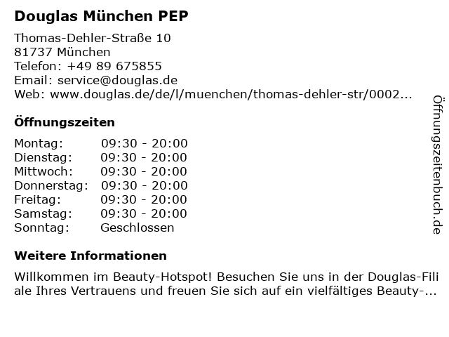 Parfümerie Douglas München Neuperlach in München: Adresse und Öffnungszeiten