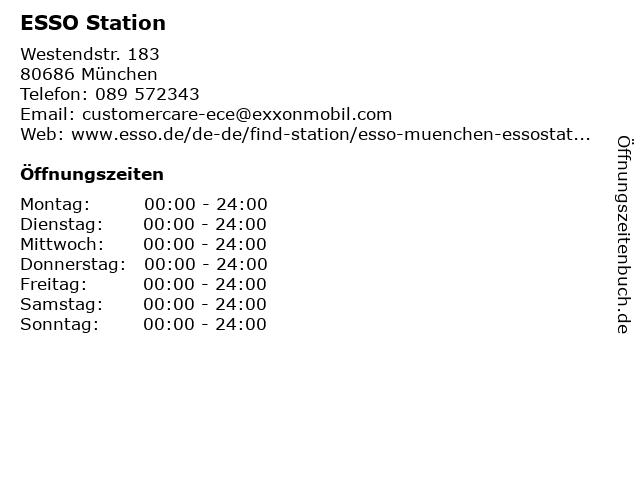 ESSO Deutschland GmbH in München: Adresse und Öffnungszeiten