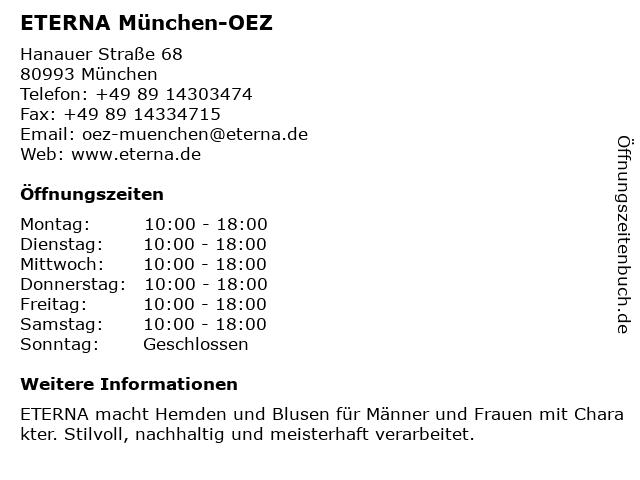 ETERNA Brand Store in München: Adresse und Öffnungszeiten