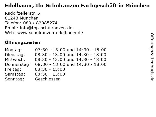 Edelbauer, Ihr Schulranzen Fachgeschäft in Puchheim bei München in Puchheim: Adresse und Öffnungszeiten